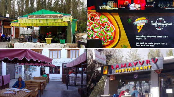 Best Restaurants and places to eat in Leh Ladakh
